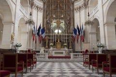 一个教会的内部在巴黎 库存图片