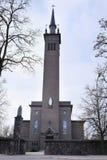 一个教会的图象在克莱佩达 免版税库存图片