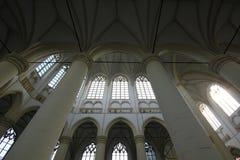 一个教会的对称屋顶在莱顿荷兰荷兰 库存照片