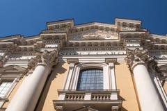 一个教会的细节在罗马,意大利 库存图片