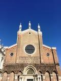 一个教会的Façade在威尼斯 库存图片