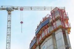 一个新发展计划的建造场所在金丝雀码头 免版税图库摄影