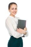 一个新可爱的女商人的纵向 库存图片