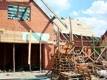 一个新房的建筑工地 免版税库存图片