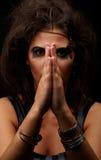一个新深色的巫婆的纵向构成的 免版税图库摄影