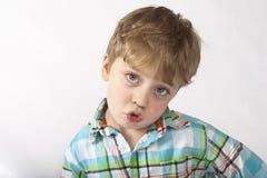一个新男孩的纵向 免版税图库摄影