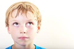 一个新男孩的纵向 免版税库存图片