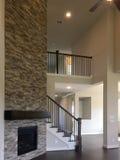 一个新的两个地板房子的内部 免版税库存图片