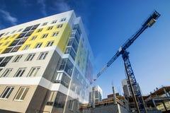 一个新的住宅公寓家的建筑 图库摄影