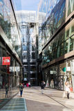一个新的变动商城在伦敦,英国 库存照片