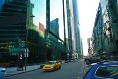 一个新的商业中心的街道在莫斯科城市 图库摄影