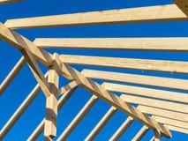 一个新的屋顶的屋顶 库存图片