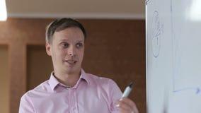 介绍一个新的战略的商人对他的同事 股票录像