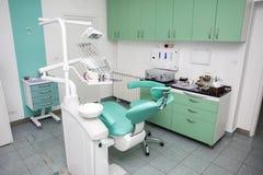 一个新的现代牙齿办公室的内部 库存图片