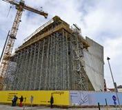 一个新的画廊的壳建筑 库存图片