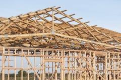 一个新的谷仓的Framming建设中 图库摄影
