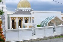 一个新的Al清真寺的建筑设计在班达尔Baru Bangi 免版税库存图片