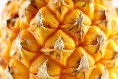 一个新鲜的有机菠萝的特写镜头 免版税图库摄影