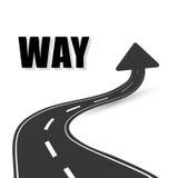 一个方式路标广告设计, 免版税库存照片