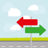 一个方式路标广告设计, 库存图片