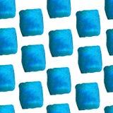 一个方形的样式的水彩抽象 免版税库存照片