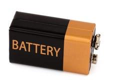 一个方形的电池,隔绝在白色背景 免版税库存照片