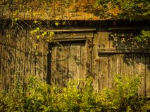 一个无人居住的谷仓 库存图片