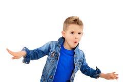 一个时髦的跳舞男孩的画象 库存照片