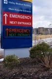 现代电子医院紧急标志 免版税库存照片