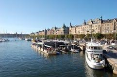 一个晴天在斯德哥尔摩,瑞典 库存照片