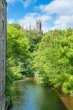 一个晴朗的下午的风景教务长Village,在爱丁堡,苏格兰 免版税图库摄影