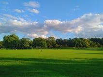 一个晴朗的春日在公园 库存图片