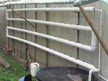 一个有机下水管道系统结构的细节 图库摄影