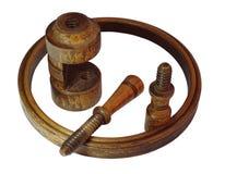 一个木制框架的细节 免版税库存图片