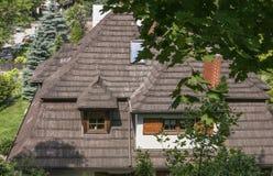 一个木屋顶 库存图片