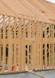 一个木房子的建筑工地 库存照片