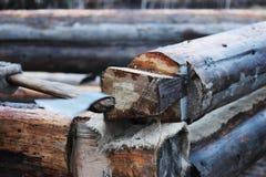 一个木房子的建筑在桩基的 免版税库存照片