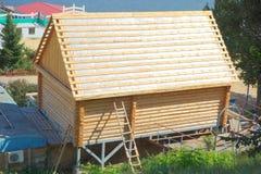 一个木房子的建筑 库存图片