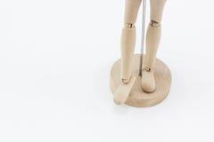 一个木时装模特的腿 库存图片