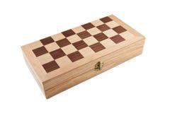 一盘象棋箱子 免版税库存图片