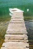 一个木码头 库存照片