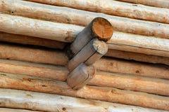 一个木碉堡和它的墙壁的元素 免版税库存图片