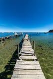 一个木船坞在科帕卡巴纳 库存照片