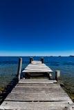 一个木船坞在科帕卡巴纳 免版税库存照片