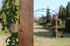 一个木结构的特写镜头 库存照片
