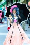 一个未认出的日本芳香树脂cosplay姿势在日本Festa在曼谷2013年。 库存照片