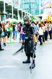 一个未认出的日本芳香树脂cosplay姿势我 免版税库存图片