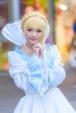 一个未认出的日本芳香树脂cosplay姿势 免版税库存照片