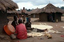 一个村庄在北乌干达。 图库摄影
