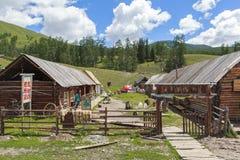 一个村庄在新疆 库存照片